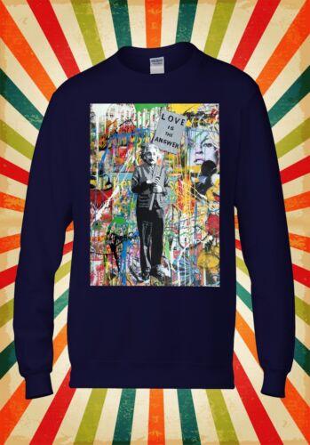 Banksy Einstein Love Is The Answer Men Women Unisex Top Hoodie Sweatshirt 1784