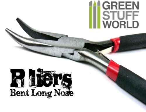 Bent Long Nose Pliers Precision plier tool matt grip