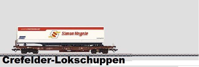 MÄRKLIN 47082-03 Känguruwagen DBAG Hegele Ep 6; Auf Wunsch DC-Achstausch gratis