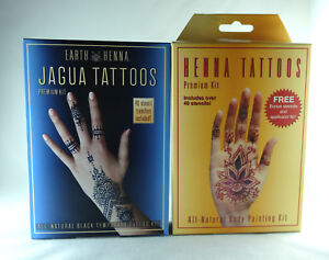 6ad4fe9e5 Earth Henna JAGUA Premium, HENNA Tattoos All-Natural Painting Kit w ...