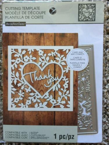 Recollections Cutting Die Template 542692 Thank You 1 Cutting Dies NEW