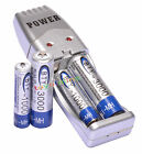 2 AA + 2 AAA 1000mAh 3000mAh 1.2V NI-MH BTY Rechargeable Battery + USB Charger