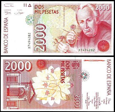 Spain 2000 PESETAS 24.4.1992 P 164 UNC serie X