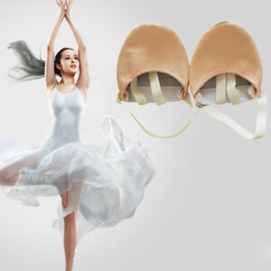 Half-Leather-Sole-ballet-pointe-Dance-Shoes-Rhythmic-Gymnastics-Slipper-1pair