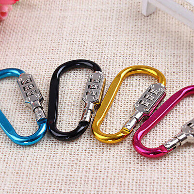 Anti Theft Bicycle Motorcycle Helmet Lock Coded Lock Carabiner Password LockNIU