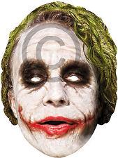 Joker Card Face Mask Accessory for Batman Villain Circus Carnival Fancy Dress