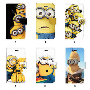 Minions-Flip-Wallet-Case-Cover-for-Samsung-Galaxy-S3-4-5-6-7-8-Edge-Note-Plus