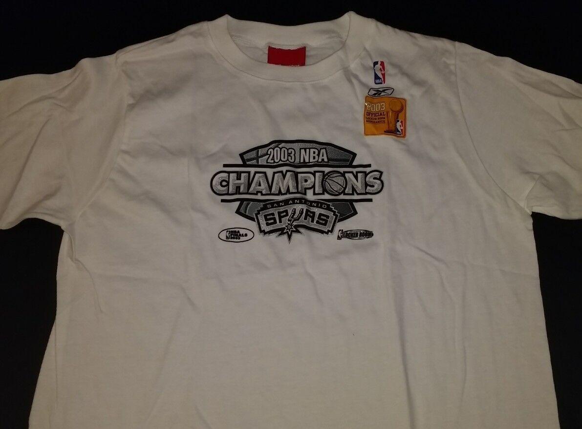 San Antonio Spurs 2003 Champions Mens M Shirt Robinson Duncan Parker Ginobili