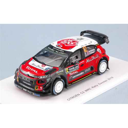CITROEN C3 WRC N.12 6th SWEDEN RALLY 2018 M.OSTBERG-T.EIKSEN 1:43 Spark Model