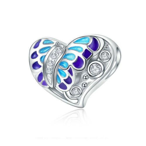 Voroco S925 Sterling Silver Pineapple Bee Charm Bead Pendant For Women Bracelet
