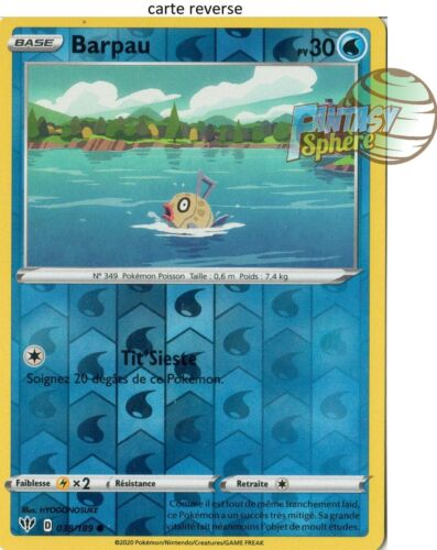 Pokemon 38//189 Barpau Reverse EB03 Epee Bouclier 3  VF Français