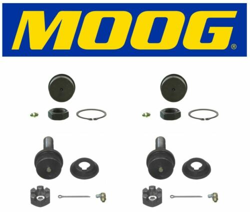 Moog 2 Upper /& 2 Lower Ball Joints 2016 Ford F-250 Super Duty4x4 4WD 6.2L 6.7L