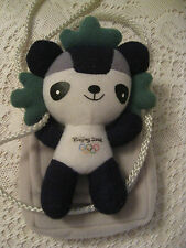 BEIJING 2008 OLYMPIC PANDA GREY POUCH W/ ZIPPER COMPARTMENT PERFECT HOLD CAMERA