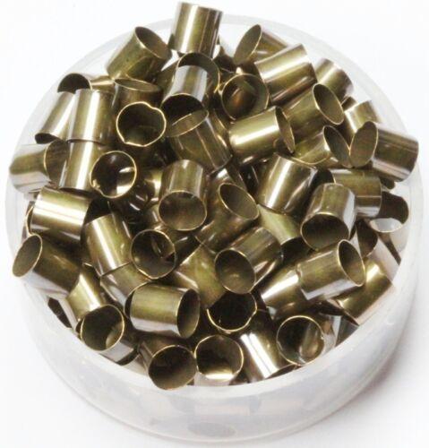 Length 5 mm 100 P. Vintage Brass Tube Spacer Beads  Inside Diameter 4 mm
