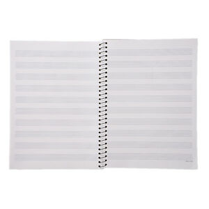 music sheet composition manuscript paper stave notebook a4 100 pages