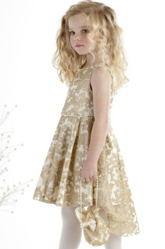 Biscotti Girls Party Dress Sizes 6X-16 Royal Treatment Gold Hi Low NWT