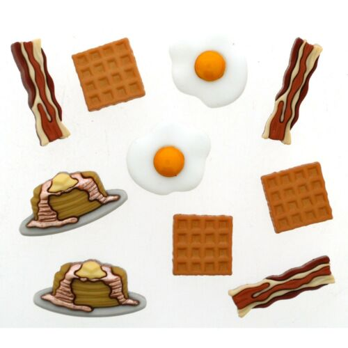 Bacon Craft Sew Jesse James Buttons Eggs Pancakes OVER EASY Dress It Up
