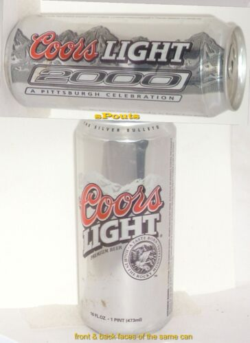 SILVER BULLET PITTSBURGH 2000 Y2K CELEBRATION COORS PINT BEER CAN PENNSYLVANIA