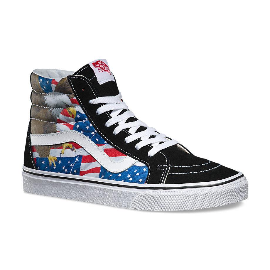 Vans Free BIRD Sk8 -Hi Mens scarpe (NUOVO) America USA  Flag AMERICANA'Merica EAGLE  punti vendita