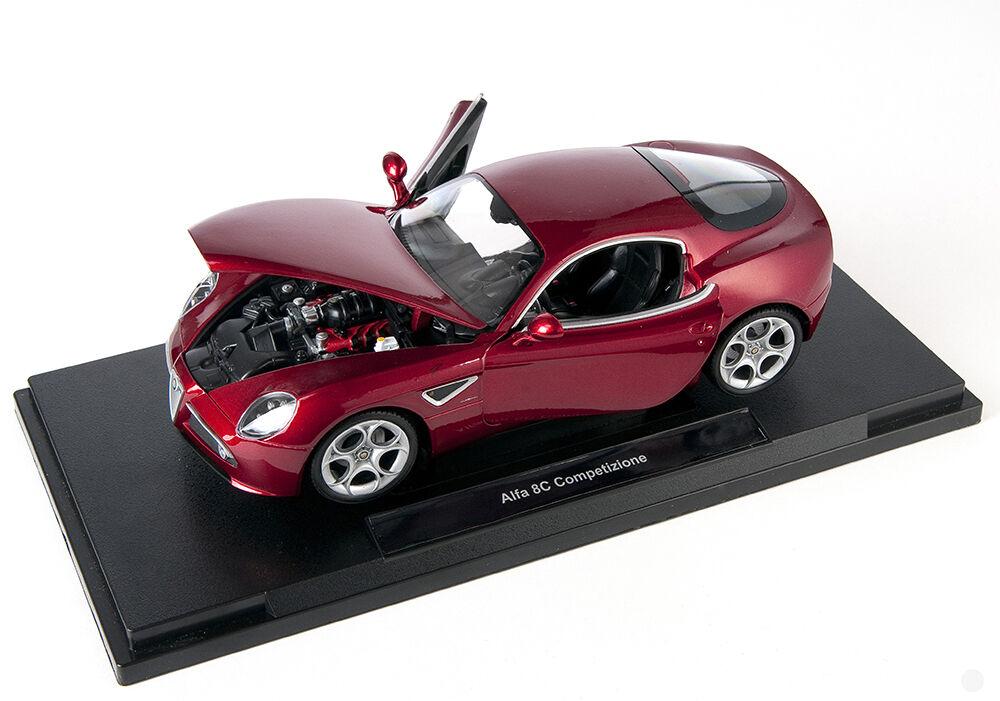 Livraison rapide ALFA ROMEO 8 C Competizione bordeaux Welly Modèle Auto 1 18 Nouveau neuf dans sa boîte