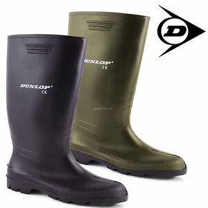 DUNLOP-UNISEX-WATER-PROOF-RUBBER-GREEN-BLACK-SNOW-WELLIES-WELLINGTON-BOOTS