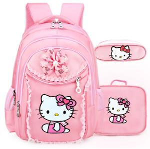 5660564e8 Image is loading HelloKitty-School-Backpacks-Girls-Kids-Satchel-Children- Bags-