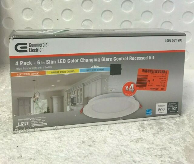 Commercial Electric 91361 Canless Led Recessed Light Kit 4 Pack For Sale Online Ebay
