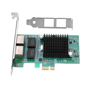Dual Port PCI-E Gigabit Ethernet Wireless Network Server Card RJ45 Intel 82575EB