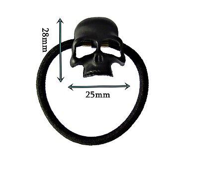 SKULL Capelli Bobble Elastico Fascia Per Capelli scheletro Punk Goth Biker Rock Nero J10 | eBay