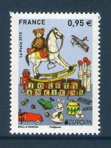 TIMBRE-4953-NEUF-XX-TTB-JOUETS-ANCIENS-CHEVAL-A-BASCULE-OURS-AVION-ETC