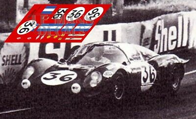 Calcas Ferrari 206s Dino Le Mans 1968 36 1:32 1:43 24 18 64 87 Slot Decals