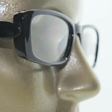 Reading Glasses Chunky Bold Full Rich Black Glossy Square Frame +2.75 Lens
