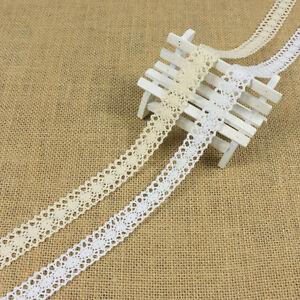 12M-Vintage-Lace-Trim-Crochet-Ivory-White-Cream-Wedding-Sewing-Bridal-Ribbon