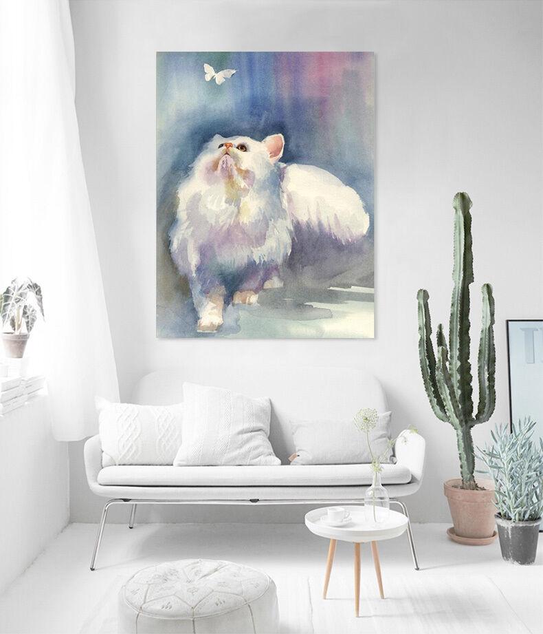3D Licht Schmetterling Katze 78 Fototapeten Wandbild BildTapete AJSTORE DE Lemon