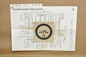 details about vtg 1989 yamaha fzr1000 w fzr1000 wc factory color schematic wire wiring diagram 1992 FZR 1000