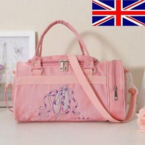 New-Lovely-Kids-Girls-Pink-BALLET-Shoes-Bag-Handbag-Dancing-Bag-Shoulder-bag