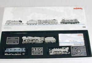 Marklin-3100-lokomotivenset-3-locomotoras-en-foto-pintura-750-anos-Berlin-H0