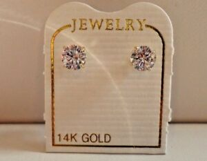 77a7e13f0 50 CTS ROUND FLAWLESS MAN MADE DIAMOND STUD EARRINGS 14K SOLID ...