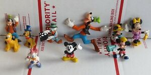 Disney Lot of PVC Figures Cake Toppers Mickey Friends