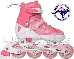Girls-Kids-Adjustable-Roller-Blades-Rollerblades-Inline-Skates-Euro-35-38-US-4-6