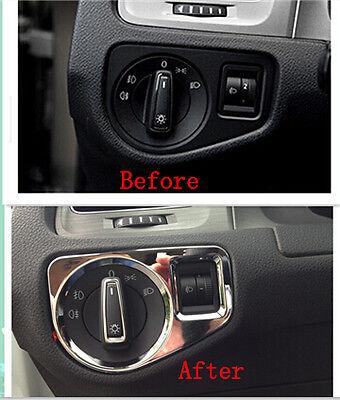 ABS Chrome Head Light Switch Cover Trim for VW Volkswagen Golf 7 MK7 2014 2015