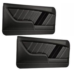 Image is loading Sport-R-Molded-Door-Panel-Set-Black-for-  sc 1 st  eBay & Sport R Molded Door Panel Set - Black - for 1968 Camaro by TMI | eBay