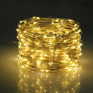 10//20M LED Solar String Lights Waterproof Copper Wire Fairy Outdoor Garden Xmas