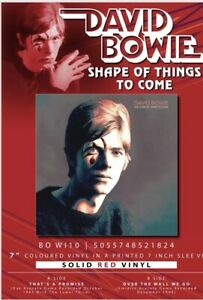 DAVID-BOWIE-SHAPE-OF-THINGS-TO-COME-VERY-LTD-EDT-7-034-RED-VINYL-IN-STOCK