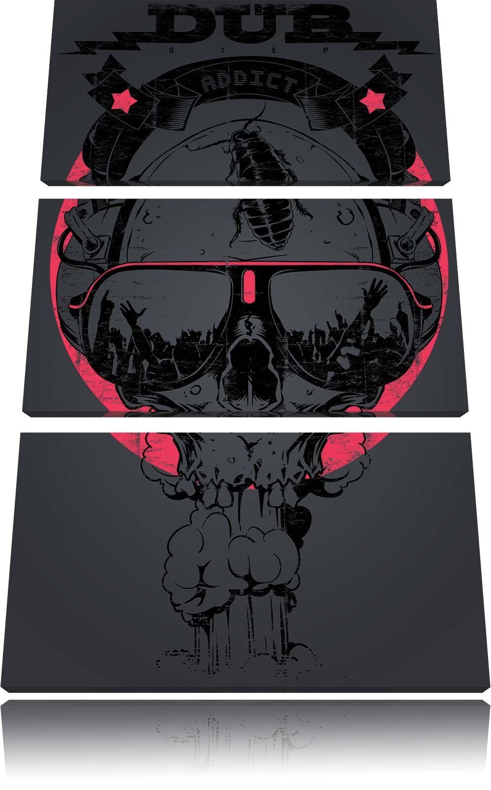 Dub Nero 3-Teiler Quadro su Tel Decorazione Parete Stampa Artistica