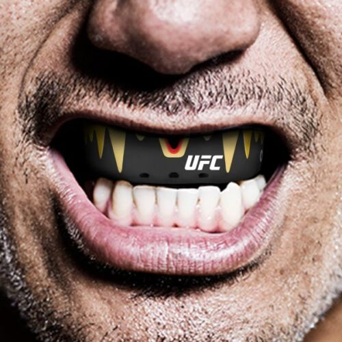 Opro Platinum Fangz UFC Adults Mouth Guard Black Gum