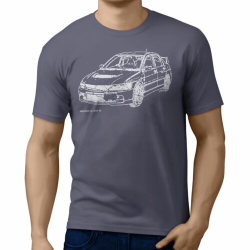 JL Illustration For A Mitsubishi Evo IX Motorcar Fan T-shirt