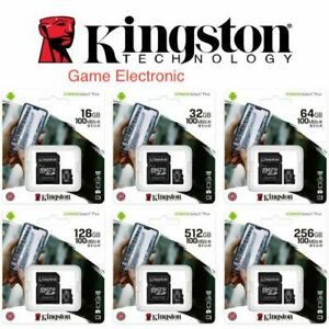 MICRO-SD-SDCS-16-32-64-128-GB-100MB-S-KINGSTON-SCHEDA-MEMORIA-CARD-CLASSE-10