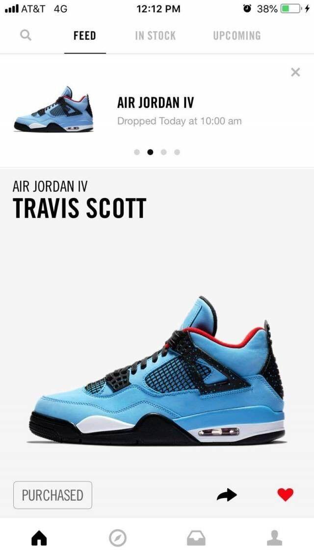Jordan 4  cactus jacks  Travis Scott Jordans Size 11