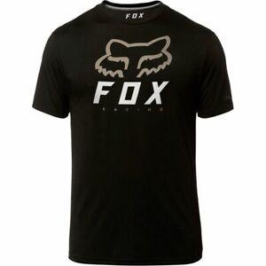 NWT-New-FOX-RACING-Heritage-Forger-Tech-SS-Shirt-L-Large-Black-Mens-o71J